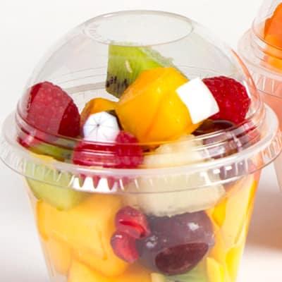 Embalagem de Plástico com Salada de Frutas