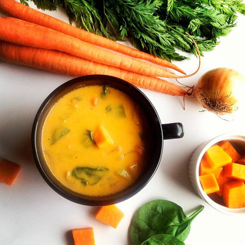 Malga Preta de Sopa com Legumes à Volta